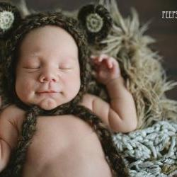 baby boy bear hat halloween costume newborn photography prop brown baby bonnet on luulla